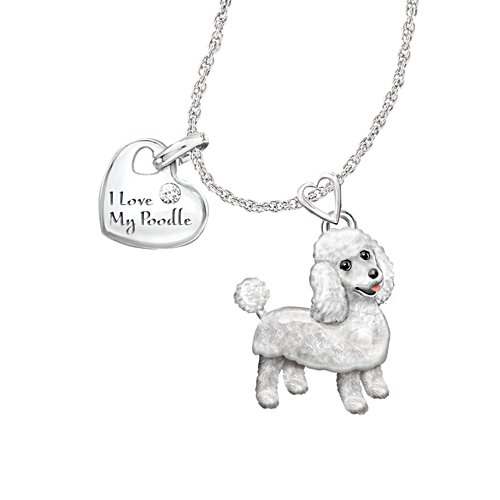 'Playful Pup' Poodle Diamond Pendant