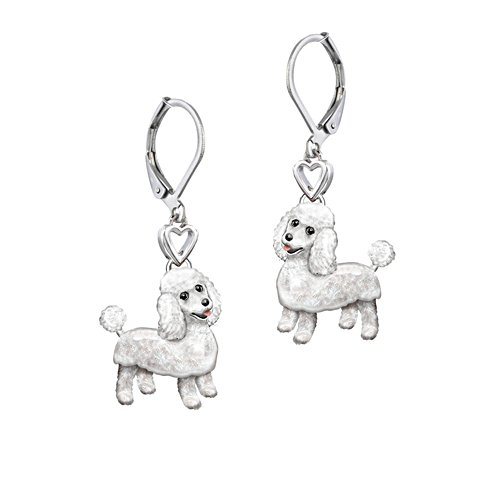 'Playful Pup' Poodle Earrings