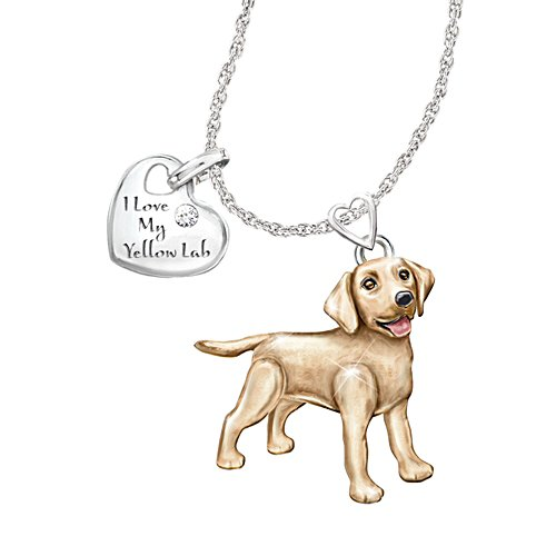 'Playful Pup' Labrador Diamond Pendant
