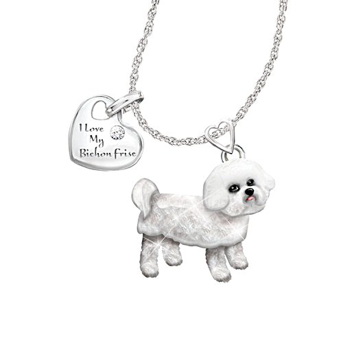 'Playful Pup' Bichon Frise Diamond Pendant