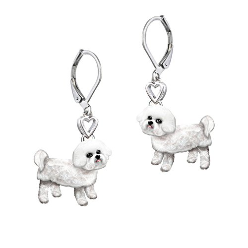 'Playful Pup' Bichon Frise Earrings
