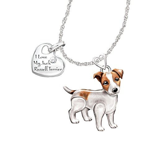 'Playful Pup' Jack Russell Diamond Pendant
