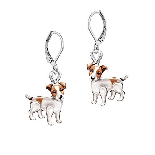 'Playful Pup' Jack Russell Earrings