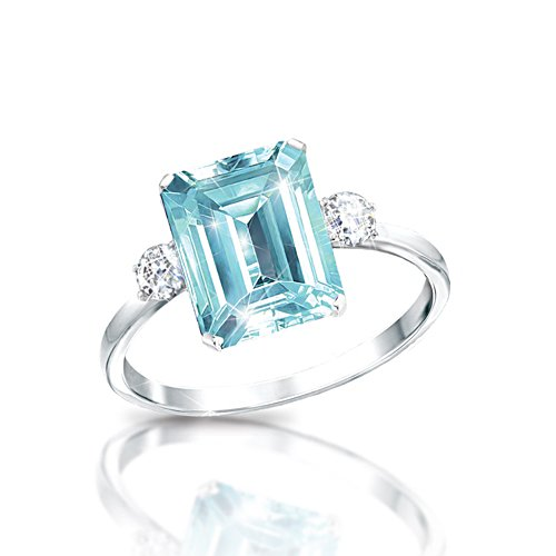 'Aqua Allure' Princess Diana Diamonesk® Ring