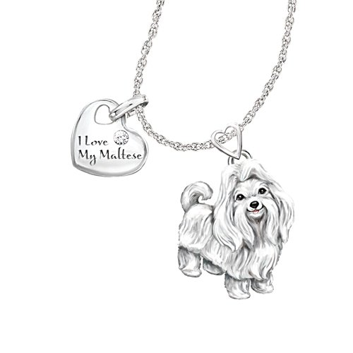 'Playful Pup' Maltese Diamond Pendant