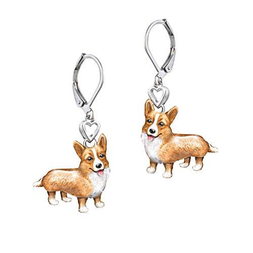 'Playful Pup' Corgi Earrings