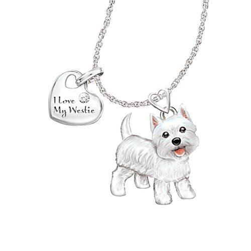 'Playful Pup' Westie Diamond Pendant