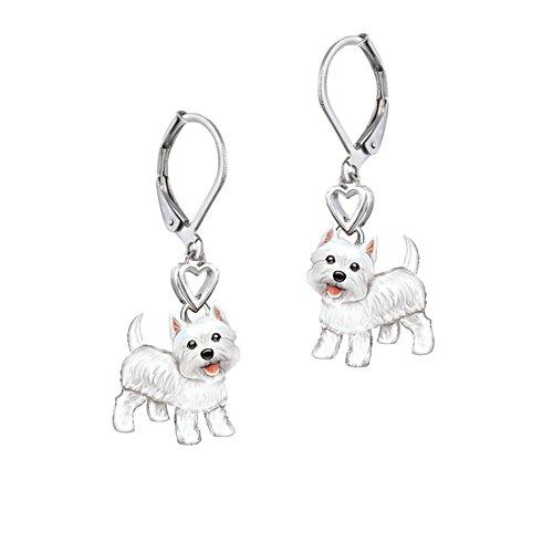 'Playful Pup' Westie Earrings