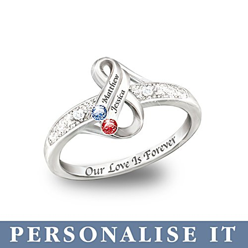 'Infinite Love' Personalised Birthstone Ring