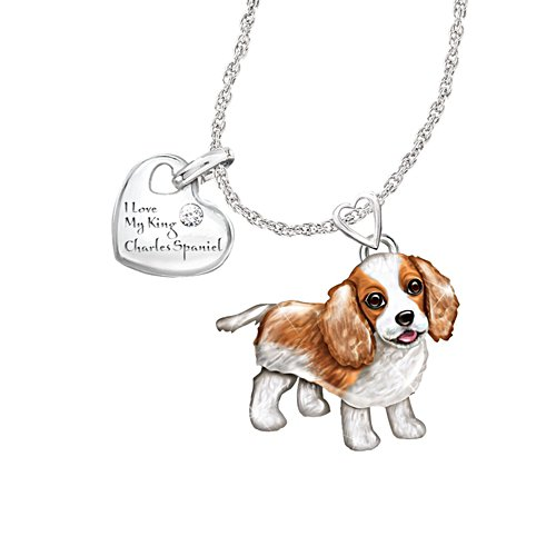 'Playful Pup' King Charles Diamond Pendant