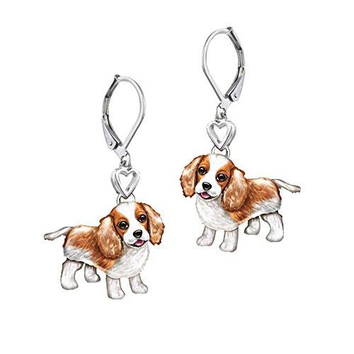 'Playful Pup' King Charles Earrings