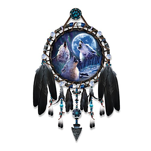 Wolf Songs' Wolf Dreamcatcher Collector Plate