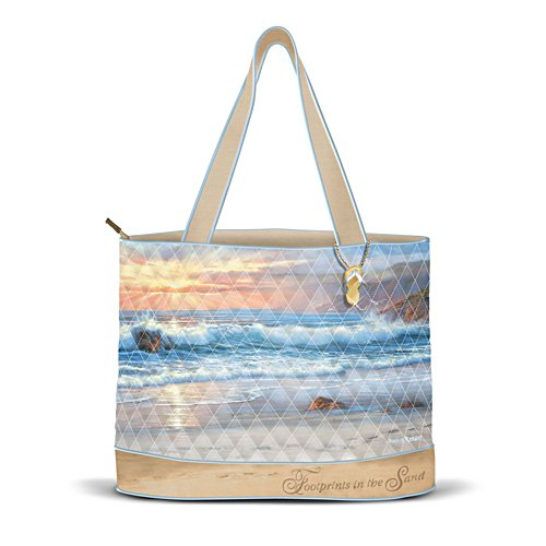 'Footprints In The Sand' Tote Bag