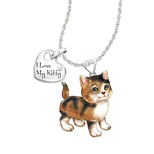 'Calico Frisky Kitty' Diamond Pendant