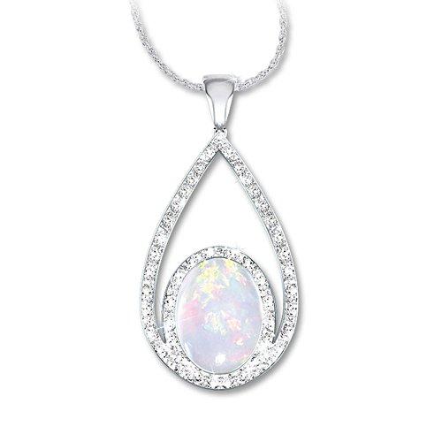 'Opulence' Australian Opal And Diamond Pendant