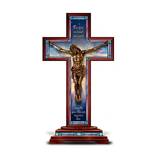 'Behold Our Lord And Saviour' Cold-Cast Bronze Cross