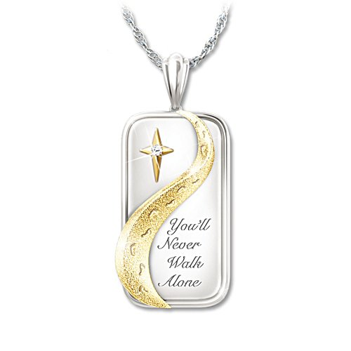 'You'll Never Walk Alone' Footprints Ladies' Diamond Pendant