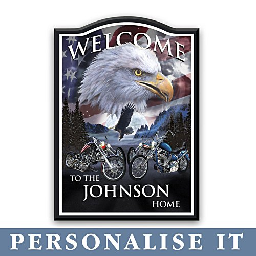 'Ride Hard, Live Free' Personalised Welcome Sign
