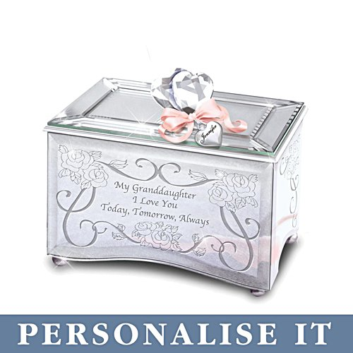 'Granddaughter, Today, Tomorrow & Always' Music Box