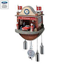'Ford Mustang Garage' Cuckoo Clock
