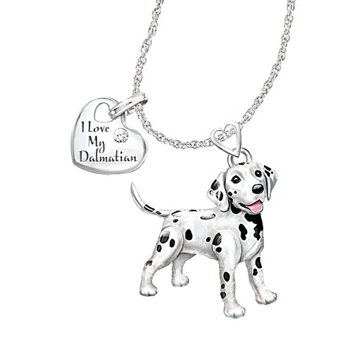 'Playful Pup' Dalmatian Diamond Pendant
