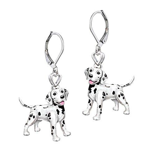 'Playful Pup' Dalmatian Earrings