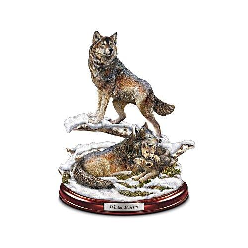 'Winter Majesty' Wolf Den Sculpture