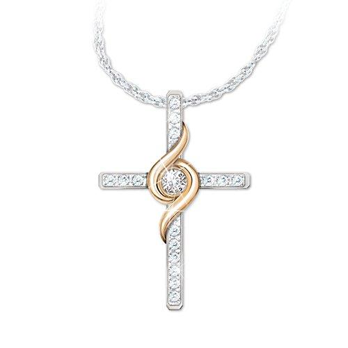 'Amazing Grace' Diamond Cross Ladies' Necklace