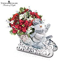 Thomas Kinkade 'Delivering Holiday Cheer' Table Centrepiece