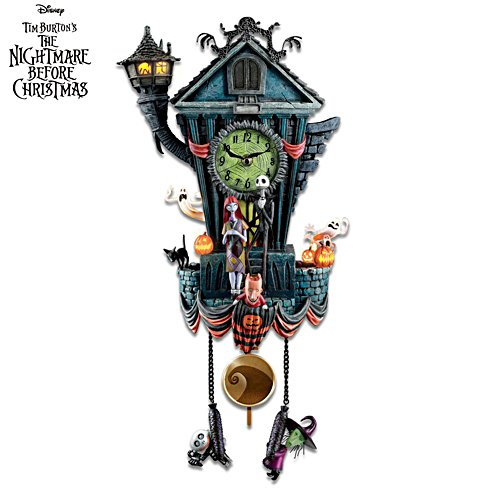 Disney Tim Burton 'The Nightmare Before Christmas' Wall Clock