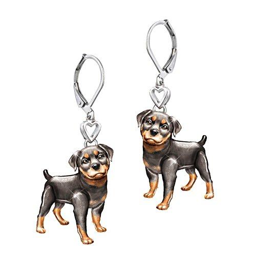 'Playful Pup' Rottweiler Earrings