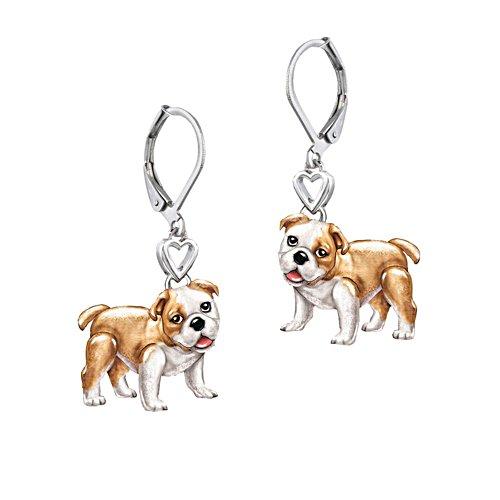 'Playful Pup' Bulldog Earrings