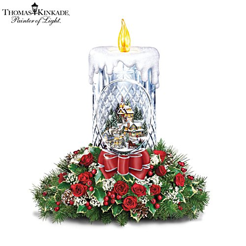 Thomas Kinkade 'All Is Bright' Table Centrepiece