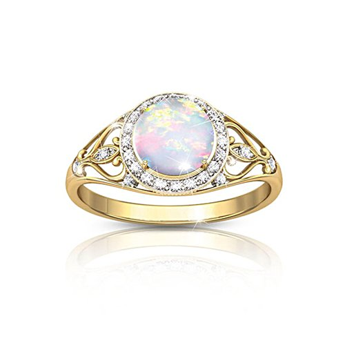 'Opal Sunrise' Topaz Ladies' Ring
