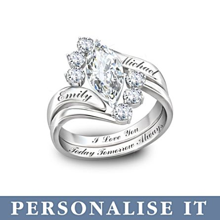 'Love Completes Us' Personalised Topaz Ring