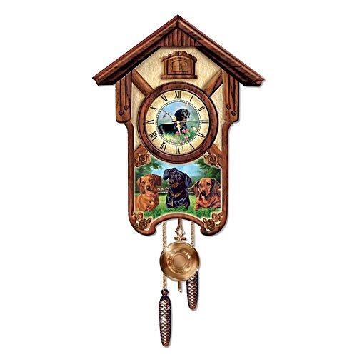 Delightful Dachshunds' Cuckoo Clock