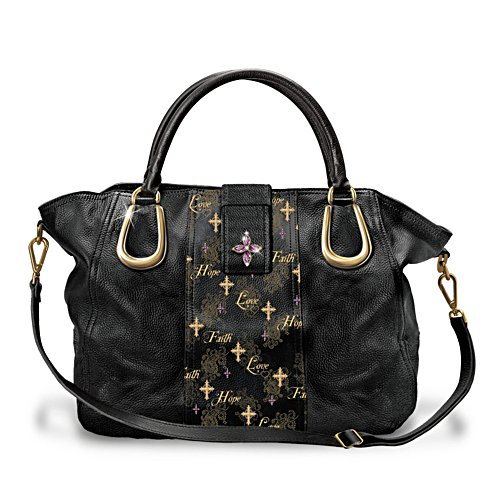 'Faith, Love And Hope' Inspirational Satchel-Style Handbag