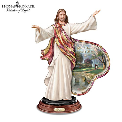 Thomas Kinkade 'Journey Of Faith' Jesus Sculpture