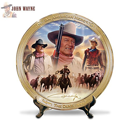 'An American Hero: John Wayne' Masterpiece Plate
