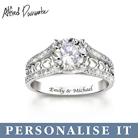 Alfred Durante 'One Love' Personalised Topaz Ring