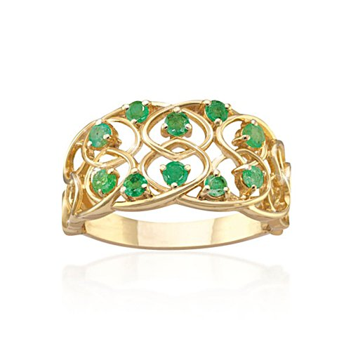 'Celtic Lace' Emerald Ring