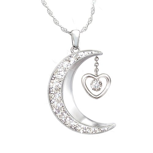 'I Love You To The Moon And Back' Daughter Diamond Pendant