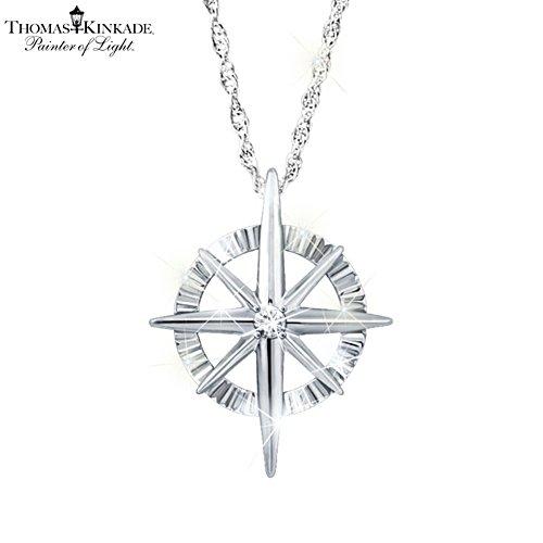 Thomas Kinkade 'Faith For All Seasons' Ladies' Diamond Pendant