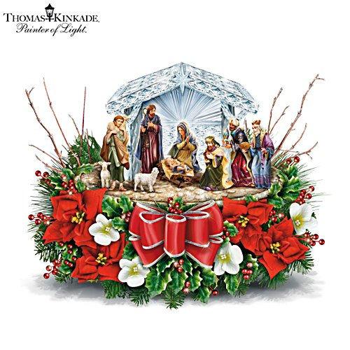 'O Holy Night' Always In Bloom™ Illuminated Centrepiece
