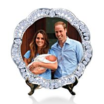 'Prince Of Cambridge, Royal Heir' Jewelled Collector Plate
