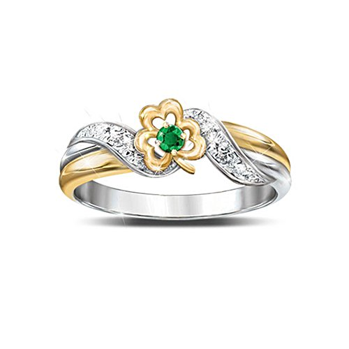 'Lucky Shamrock' Emerald And Diamond Embrace Ring