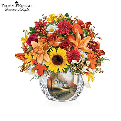 Thomas Kinkade 'Autumn's Golden Glow' Table Centrepiece