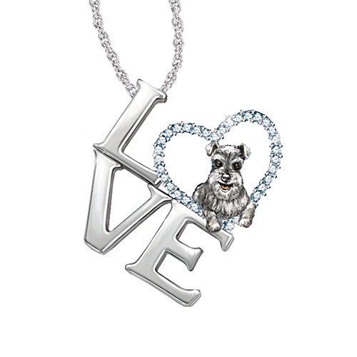 'Loving Companion' Schnauzer Ladies' Pendant