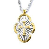 'A Saint's Love Of Faith' Diamond Cross Pendant