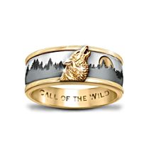 'Call Of The Wild' Spinning Wolf Ring